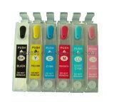 Refillable Ink Cartridge for Epson Stylus Photo R200, R220, R300, R320 Printer
