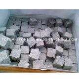 Cheap Driveway Natural Granite Cobble / Cube Paving Stone for Landscape