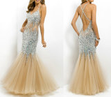 Beading Prom Formal Gown Mermaid Crystal Party Evening Dresses T92503