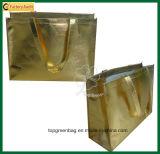 Lamination Non Woven Shopping Bag Metallic Gold Bags
