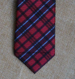 Black and Red Checked Handmade Poly Necktie