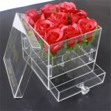 Acrylic Clear Flower Box with Drawer