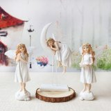 Fairy Angel Ornament with Silver Leaf Effect Christmas Gift Decoration