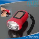New Popular Solar Hand Crank Dynamo Torch Flashlight