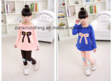 Colorful Thickened Girls′ T-Shirt+ Pants Children Clothes with Big Bow on The Chest