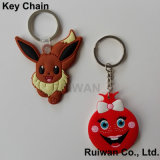 3D Custom Soft PVC Keychain, Promotional Key Rings