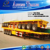3 Axle 40ft Flatbed Container Semi Truck Trailer
