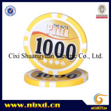 11.5gram 8stripe Poker Chip with Customized Stickers (SY-D17E)