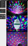 Newest E27 3W RGB Rotating LED Stage Disco Light Bulb