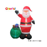 Giant Inflatable Santa with Gift Customized Size Party Decoration Christmas Chxs1507
