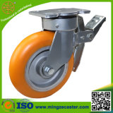 Industry Orange PU on Aluminum Core Wheel Caster