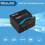 Mealink 1 in 2 out 1X2 HDMI Splitter 1.4V with Uhd 4k+3D+Ethernet