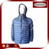 Men′s Black Colour Hoody Winter Down Jacket