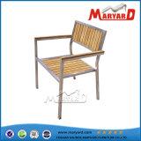 Stainless Steel+ Teak Garden Dining Chair