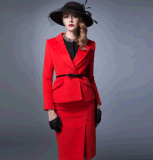 Top-Quality Autumn/Winter Elegant Ladies Office/Hotel/Dinner Business Formal Suits
