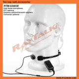 Walkie Talkie Clear Tube Earpiece Throat Microphone for Detective