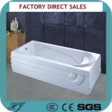 Soaking Double Skirt Side Semi Freestanding Acrylic Bathtub (416)