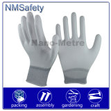 Nmsafety Palm Fit PPE White PU Coated Work Safety Glove