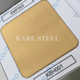 201 Stainless Steel Golden Color Hairline Kbh001 Sheet
