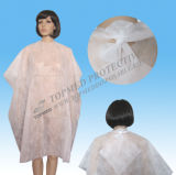 SMS Nonwoven Disposal Hair Salon Cape, Hair Cutting Cape with Ce Certificate