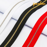 New Design Plated Nylon Zipper with Multicolor