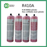 1L Steel Cylinder Packed Refrigerant Gas R410A 800g