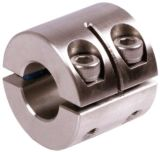 Metric Size Double Split Double Width Stainless Steel Shaft Clamping Colla