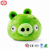 Plush Angry Game Bird Green Pig Custom Stuffed Round Toy