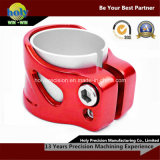 Red Anodized Double Sided CNC Aluminum Tube Clamp