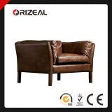 Orizeal Sorensen Slightly Flared Leather Chair (OZ-LS-2036)
