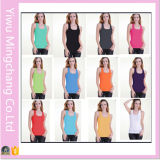 Fashion Candy Colors Women Round Neck Summer Cotton Tank Top