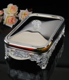 Silver Plated Baker with Glass (AG33028DL)