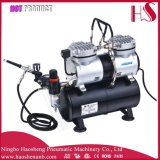 As196k PRO Powerful Twin Cylinder Piston Airbrush Air Compressor W/ Tank Hobby T Shirt