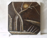 Modern Hand-Painted Silent Starry Night Decoration Simple Family Canvas Painting