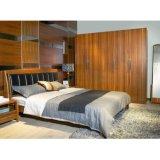 Wholesale Wood Grain Melamine Swing Wardrobe for Apartment