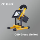 10W Portable LED Flood Light/Emergency Lighting/Outdoor Chargeable Lighting