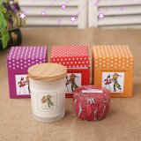 Decorative Frosted Health Essential Oil Soy Candle
