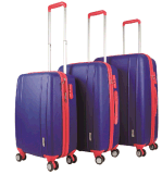 PP Zipper Style Hard Shell Suitcase Trolley Case