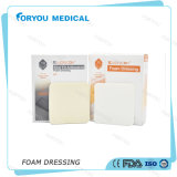 Foryou Medical Wound Care Dressing Medical Supplies Antimicrobial AG Foam Dressing Silver Absorbing Pad