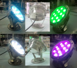 Stainless Steel IP68 Underwater Light 36W RGB LED Swimming Pool Light with Ce RoHS