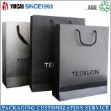 2017 Wholesale Luxury Black Bag Paper Shopping Bag