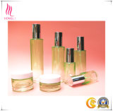 Beauty Green Gradient Round Glass Bottle for Skin Care Cosmetic