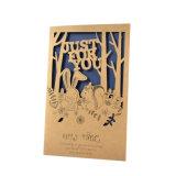 2017 New Design Custom Hollow Paper Greeting Card