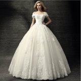 Wholesale off Shoulder Appliqued Beaded Bridal Dress