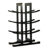 Solid Material Holder 12-Bottle Dark Espresso Bamboo Wine Rack