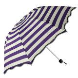 Beautiful Stripe Outdoor Beach Small Colourful Sun Umbrella