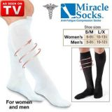 Brand New Miracle Socks Black Unisex Pain Relieving Socks