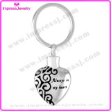 Heart Cremation Urn Key Ring Personalized Engrave Custom Key Chain Ashes Holder Key Chain (IJK2021)