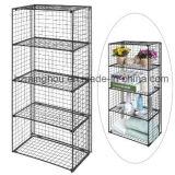 4 Tier Cloth Magazine Flow Storage Wire Metal Display Shelf