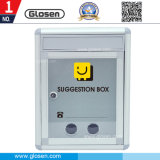 Aluminum Large Size Economical Drop Box-Donation Box with Key Lock